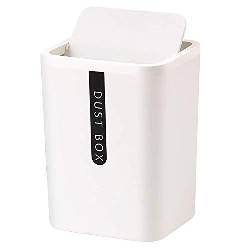 Mini papelera de plástico para mesa de cocina, oficina, organizador de maquillaje para baño, 100 bolsas de plástico