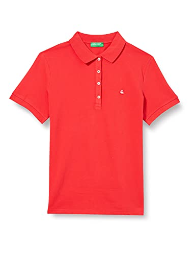 United Colors of Benetton Damen Polo Poloshirt, Rot (Poinsettia 30a), X-Small