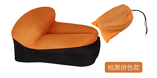 Stoel LKU Campingmeubilair lucht strandstoel zitkussen draagbare outdoor gras tuin opblaasbare bank, oranje