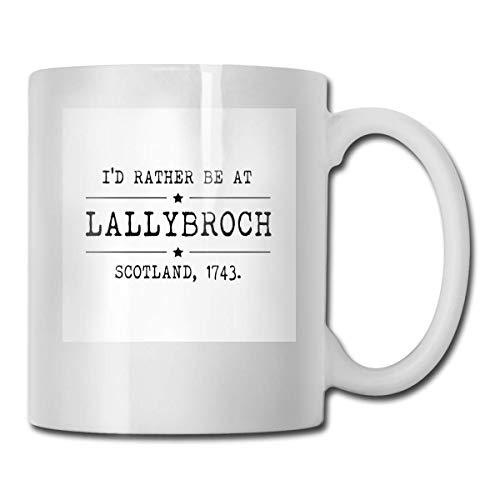 haoqianyanbaihuodian Lallybroch - Outlander - Tazas de cerámica (330 ml)