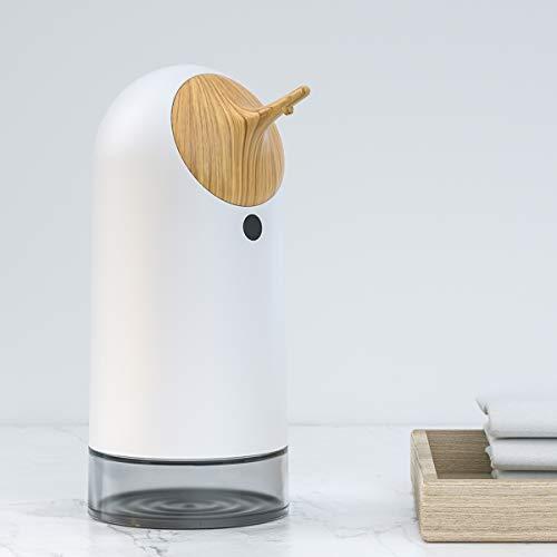 IRON JIA'S Dispensador automático de jabón sin Contacto con Espuma, Sensor de Movimiento infrarrojo, batería Inteligente eléctrica de Larga Espera, 260 ml para baño, Cocina, Oficina, Material ABS