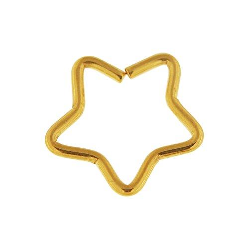 Eloxierte Goldstern 18 Gauge 316L chirurgischer Stahl Knorpel einzelne Schließung Ring Helix Daith Piercing