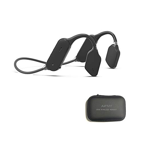 AIFMY Open Ear Wireless Air Conduction Headphones with Bluetooth 5.0 Earphone with Perfect Sound for Sports,Running、Driving 、Cycling,Black