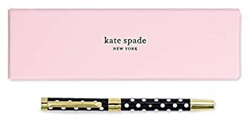 Kate Spade New York Black Ink Ballpoint Pen with Reusable Gift Box Professional Office Pen for Women Accepts Standard Refills Polka Dots  black/white