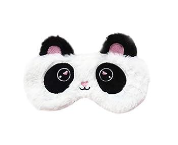 Cute Cartoon Animal Novelty Sleeping Mask Panda Eye Masks Panda Eye Mask for Kids Panda Sleep Mask for Women Black White Plush
