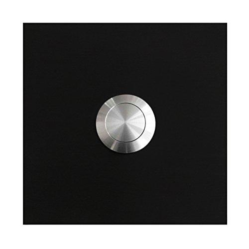 MOCAVI RING 110 Edelstahl-Design-Klingel schwarz matt RAL 9005 quadratisch, Klingeltaster