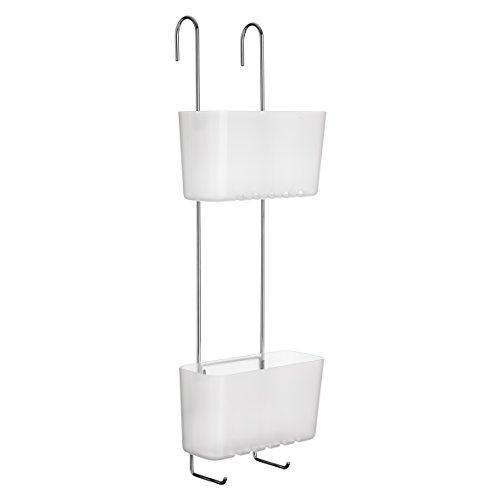 Tatay 4522101 Standard Duo Cesta organizadora de Ducha o bañera con Dos baldas Apta para Todo Tipo de mamparas, Glacé, 20 x 13 x 59 cm