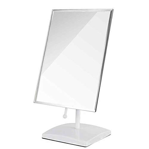 WWEIWU Propre et lumineux Miroir de bureau portable miroir pliant miroir mural de princesse miroir hd chambre miroir grande rotation multi-angle haute définition (Color : White)