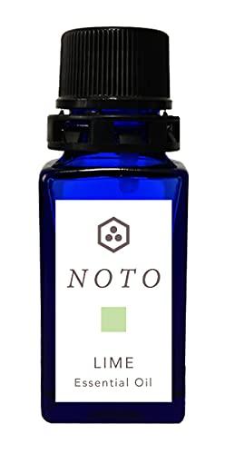 NOTO ライム精油 LIME OIL 10ml エッセンシャルオイル メキシコ産 芳香浴ディフューザーやオリジナル香水自作用(ライム精油 10ml 1本)