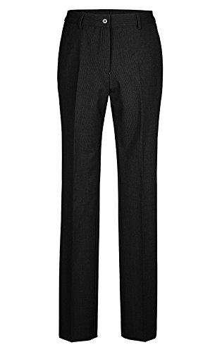 GREIFF Damenhose mit hoher Leibhöhe   Gerader Beinverlauf   2 Seitentaschen   Farbe: Schwarz   Größe: 38