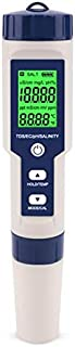 TOOGOO 5 in 1 TDS/EC/PH/Salinity/Temperature Meter Digital Water Quality Monitor Tester for Pools, Drinking Water, quarium...