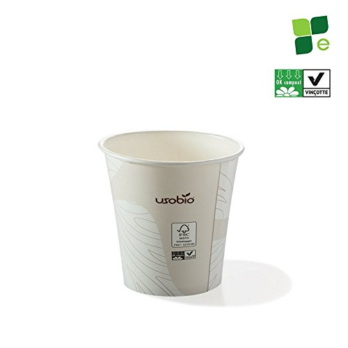 100pz - Bicchieri monouso caffè espresso 120ml - Biodegradabili e compostabili