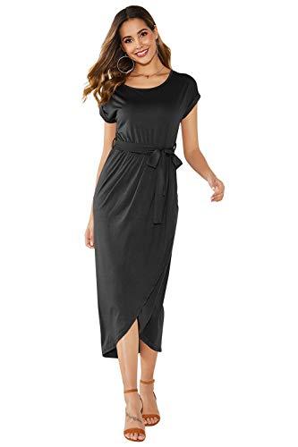 Yidarton Sommer Kleider Damen Shirt Kleider Maxi Lang Strandkleider Beach Kleider Partykleid Elegant Maxikleider
