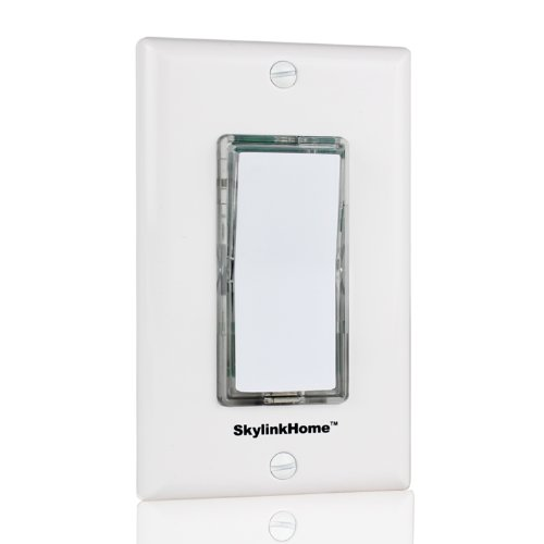 SkylinkHome TB-318 Wireless Stick-on or Wall Mounted Battery Operated Anywhere Wall Light Switch Remote Transmitter