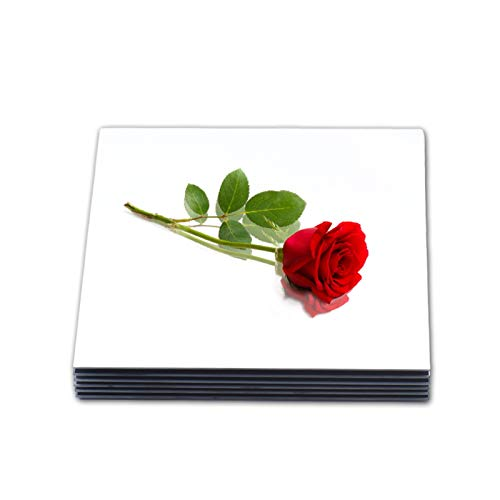 LOIGYUR Square Mirror Trays Set of 12, 8 Inch Wedding Centerpieces, Candle Plate for Tables, Parties, Festivals and Baby Shower, 2mm Thick Rounded Edge Glass