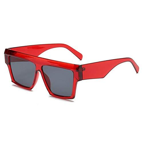 ZZOW Gafas De Sol De Lujo Cuadradas De Gran Tamaño Retro A La Moda para Mujer, Gafas De Sol De Diseño Popular Vintage para Hombre, Gafas Uv400
