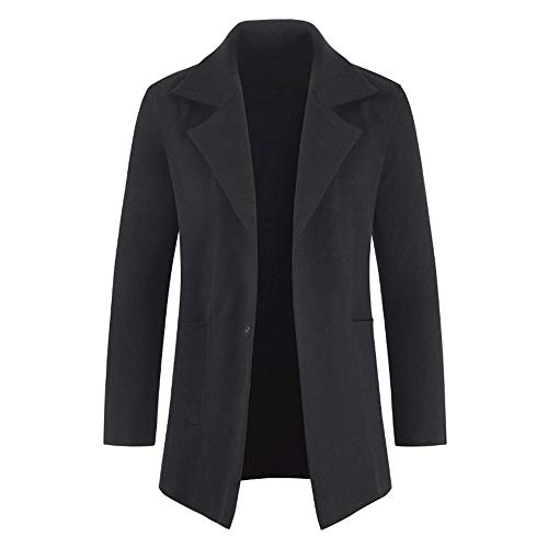 MENAB Mens Coats Slim Fit Winter Wool Jackets Elegant Thick Overcoat Casual Trench Coat Wool Coats Casual Slim Fit Woolen Trench Coat Long Overcoat Casual Slim Fit Woolen Coat Trenchcoats Black