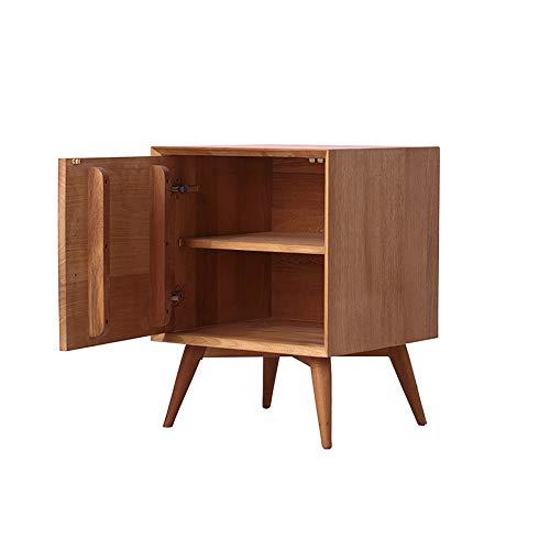 Bureau DD nachtkastje, bijzettafel 2 verdiepingen met deur, eindtafel moderne nachtkastje met natuurlijke dennenpoten voor woonkamer slaapkamer, werkbank