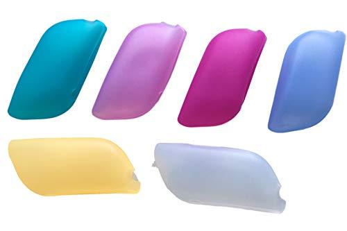 MayerleProdukte 6er Pack Silikon Zahnbürsten Etui – Schutzhüllen für Hand & elektrische Zahnbürste auf Reisen, Ausflügen, Urlaube – Reiseetui/Reisebox besonders Hygienisch