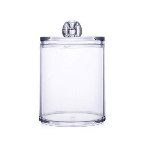 Effacer Porte-Pot en Plastique pour Le Coton Swab, Maquillage Acrylique Tapis Container Organisateur De Rangement pour Balles De Coton, Écouvillons, Q-Tips, Disque De Coton