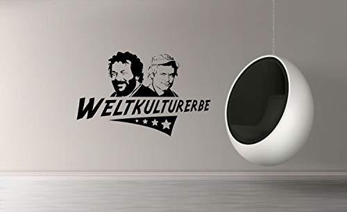 myrockshirt Wandtattoo Weltkulturerbe Bud Spencer Terrence Hill 60cm Aufkleber für Auto,Lack,Scheibe&Wand, Autoaufkleber Decal Sticker Profi-Qualität