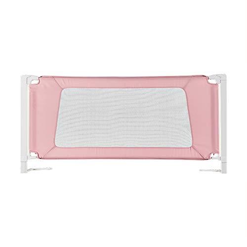 Barrières MAHZONG Lit bébé incassable lit Baffle lit Enfants 1,5-2 mètres (Couleur : Pink, Taille : L-150cm)