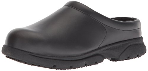 WOLVERINE Women's Serve SR LX Clog Slip-On Food Service Shoe, Black, 11 M US