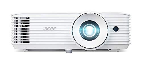 Acer GM514 Proyector con resolución 1080p, Contraste 10.000:1, Brillo 3500 ANSI, Formato 16:9, conexión VGA, HDMI, duración de la lámpara 5000 h, Altavoces Integrados, Blanco
