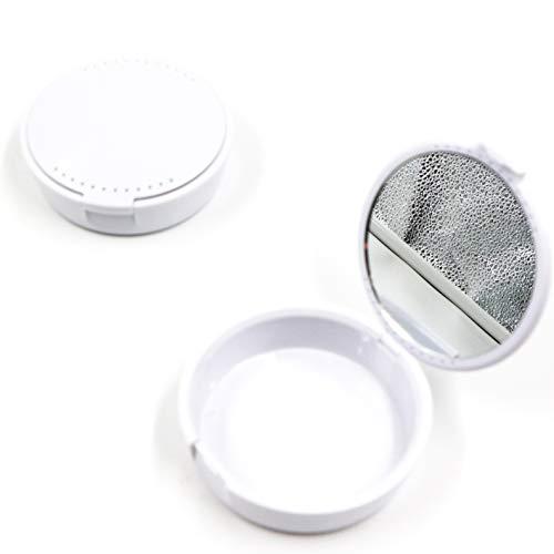 Zahnspangen-Pflegebox, Prothesenreinigungsbox-Aufbewahrungsbox mit Spiegel, kompakt und leicht zu tragen. Geeignet zur Aufbewahrung von Zahnspangen und Zahnersatz
