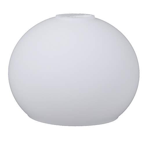 Bola de cristal blanco mate, diámetro 120 mm, cristal de repuesto E14, cristal opalino
