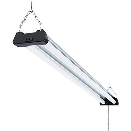 Sunco Lighting Industrial LED Shop Light, 4 FT, Linkable Integrated Fixture, 40W=260W, 5000K...
