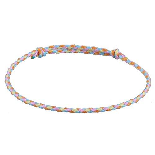 C.QUAN CHI Handgefertigt Geflochten Armbänder Bunt Freundschaft Faden Armband zum Handgelenk Knöchel Frau Geschenke zum Teen Mädchen Geschenke