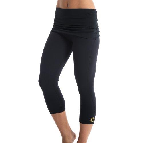 Zaggora Women's Fold Over Hotpants, Medium, Black