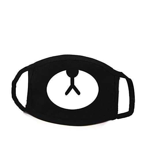DDG EDMMS Masque Mignon Kawaii moufles Masque Ours Noir Masque de Coton poussière pour Les garçons et Les Filles 1 ordinateur Soins personnels