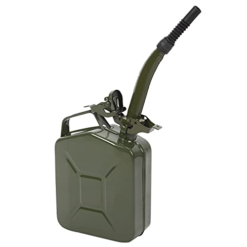 5L 0.6mm American Oil Barrel Army Green with Inverted Oil Pipe,Durability Automotive Replacement Fuel Tanks
