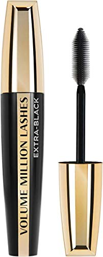 L'Oréal Paris Mascara, Tief-schwarze Wimperntusche für extra Definition und extra Volumen, Volume Million Lashes, Nr. 00 Extra-Black, 1 x 9,2 ml