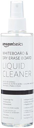 AmazonBasics Dry Erase Liquid Cleaner for Whiteboards - 8-Ounce, 1-Pack
