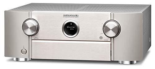 Marantz SR6014 9.2-Kanal AV-Receiver, Hifi Verstärker, Alexa kompatibel, 8 HDMI Eingänge und 2 Ausgänge, Bluetooth, WLAN, Musikstreaming, Dolby Atmos, AirPlay 2, HEOS Multiroom, silber