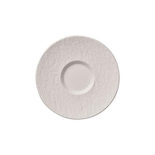 Villeroy & Boch Manufacture Rock Blanc Sous-tasse à café au lait, 17,3 cm, Porcelaine Premium, Blanc