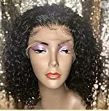 Sassy Sista's Boutique 12 inch Jerry Curl Frontal Lace Wig Virgin Hair, Natural- No Part