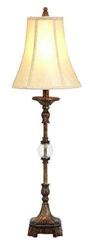 Deco 79 Polystone Metal Lamp, 34-Inch