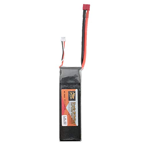 Silverdewi 7.4V 5000mAh 40C 2S 1P Lipo Batería T Plug Recargable para RC Racing Drone Quadcopter Helicopter Car Boat