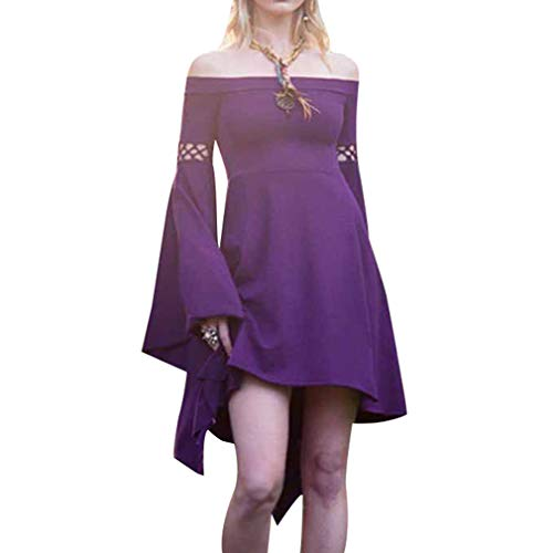WEIMEITE Donne rinascimentali medievali The Dark Ages Dress Abiti Manica Lunga off Spalla Party Dress
