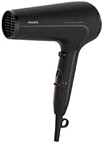 Philips Thermoprotect HP8230/00 - Secador de Pelo, Motor DC, 3 Velocidades, 3 Temperaturas, 2100 W, Negro y Lila