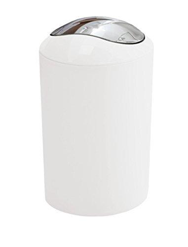 Kleine Wolke  Glossy 5Ltr Swing Bin (White)