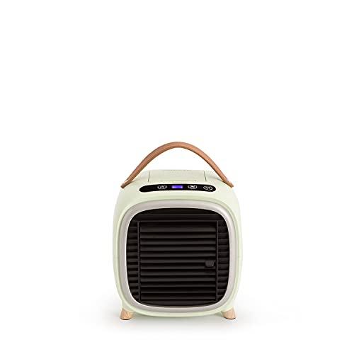 CREATE Air Coolir Box Studio - Mini condizionatore portatile, aria condizionata da tavolo, umidificatore, purificatore USB, 400 ml, timer, LCD Touch, 3 velocità, ultra silenzioso (verde)