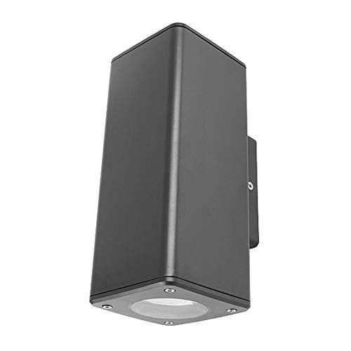 Lámpara de Pared para Exteriores Acero Metal Moderno IP65 Negro Inoxidable de Pared Exterior Luz, for la Sala de Estar Dormitorio Baño Cocina Comedor [energética A ++]