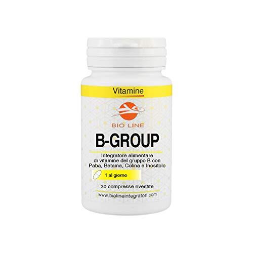 B GROUP COMPLEX - Integratore alimentare di vitamine del gruppo B, 30 compresse rivestite
