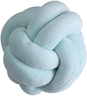 linfei Almohadas Decorativas Cojín Nórdico Ins Innovador Hecho A Mano Nudo Anudado Bola Hogar Cojín De Almohada para Bebés Cojines Simples para Auto