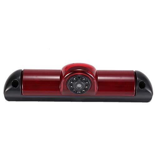 Auto Impermeabile IR Notte viosn colori Retrovisore luce freno Terzo tetto Top Mount Telecamera inversa Angolo regolabile per FIAT Ducato X250/ Peugeot Boxter/Citroen Jumper (Telecamera Retromarcia)